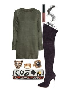 stylist by air fashion bomb daily casadei boots olive green sweater dress. www.FashionPLX.com Follow world's all fashion blogs in one website. Repin no to forget.