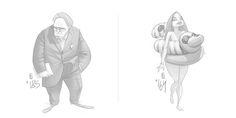 Ознакомьтесь с этим проектом @Behance: «365 everyday sketch» https://www.behance.net/gallery/41150615/365-everyday-sketch