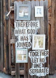 homemade wedding decor Can change it as well... Just the back drop and the spray painted words. It can work as a back drop.