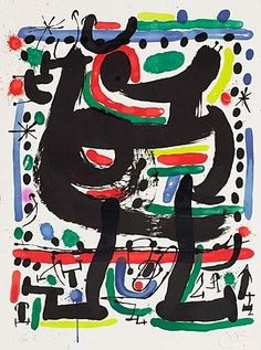 Artwork by Joan Miró, Poster for the Opening of the Mourlot Atelier in New York, Made of Color lithograph