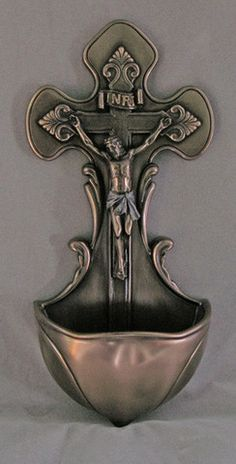 Crucifixion Of Jesus Holy Water Font Veronese Collection – Beattitudes Religious Gifts