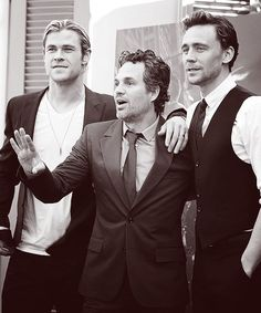 Chris Hemsworth, Mark Ruffalo, Tom Hiddleston. I JUST DIED. LITERALLY SOME OF…