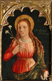 Little is known about this early Roman martyr, except that she refused to marry a nobleman named Flaccus in the first century. He threatened to kill her but she died naturally after three days fasting. Petronilla is traditionally identified as the daughter of Saint Peter, though this may stem simply because of the similarity of names. It is believed she may have been a convert of the saint (and thus a 'spiritual daughter of St Peter, or a follower or servant. It is said St Peter cured her of...
