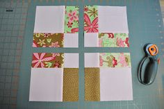 The Sewing Chick: Two Ways to Make the Same Quilt - disappearing nine patch