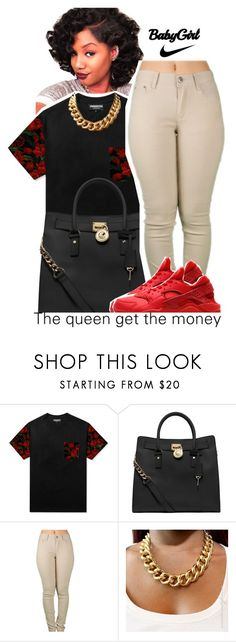 """I'm Finally 1⃣6⃣"" by fashionkilla-lex ❤ liked on Polyvore featuring MICHAEL Michael Kors and NIKE"