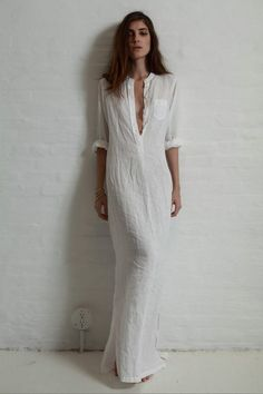 perfect white summer caftan