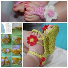"""<input class=""""jpibfi"""" type=""""hidden"""" >So cute baby sandals for summer! Homemade baby sandals for baby gifts are easier than you think! What better than a one of a kind handmade pair.This tutorial will set you down the path to making some adorable baby sandals! Baby sandals are a great gift for a newborn, especially when they're handmade. Materials: Crochet…"""