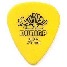 World famous Jim Dunlop Tortex Standard .73mm Yellow Guitar Plectrum. Played by the best players in the world
