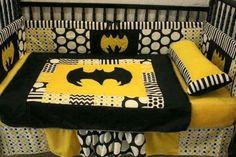 I will have to make this for my future children.Black Chevron Batman Crib bedding by bedbugscreations on Etsy Baby Batman, Batman Love, Batman Nursery, Batman Stuff, Batman Batman, Nananana Batman, Baby Showers, My New Room, Crib Bedding