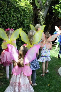 fairy party - LOTS of wings! Check out popcorn idea