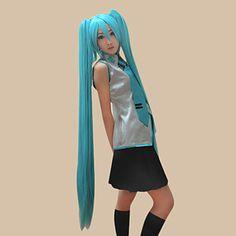cosplay parykk inspirert av vocaloid Hatsune Miku – NOK kr. 176