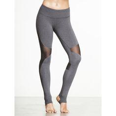 Alo Yoga Coast Legging ($94) ❤ liked on Polyvore featuring pants, leggings, white legging pants, white trousers, alo yoga, white leggings and white pants