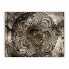 Vintage Vinyl Records Retro Music DJ Art Wood Print $29.96