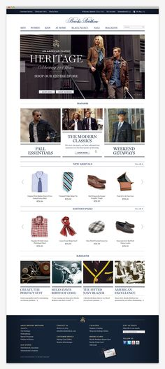 Brooks Brothers by Apartment One , via Behance