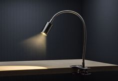 LED spotlight on a gooseneck. Can be attached to a desk with the maximum thickness of cm. Desk Lamp, Table Lamp, Spot Light, Studio, Led, Lights, Canning, Interior, Design