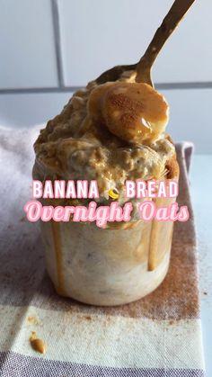 Fun Baking Recipes, Snack Recipes, Dessert Recipes, Oats Recipes, Healthy Breakfast Recipes, Healthy Desserts, Healthy Recipes, Healthy Food, Overnight Oats