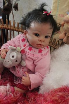 Prototype reborn baby doll girl LENA an Amelie Kit L. Murray SO REAL