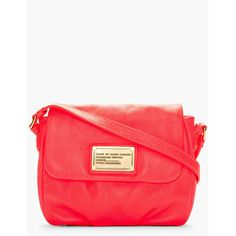 MARC BY MARC JACOBS Fluorescent Pink Isabelle Classic Q Bag (€175) found on Polyvore