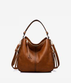 Handbags for Women Large Designer Ladies Hobo bag Bucket Purse Faux Leather - Light Brown Small Size Leather Hobo Handbags, Fall Handbags, Burberry Handbags, Luxury Handbags, Fashion Handbags, Purses And Handbags, Leather Purses, Cheap Handbags, Prada Handbags