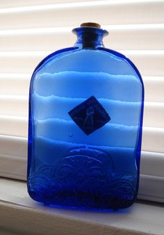 Another piece for my cobalt glass collection.