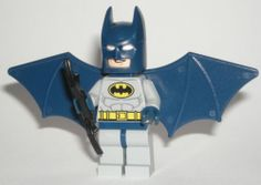 LEGO Batman Minifigure with Gray Suit and Wing Jet Pack 6858