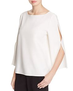 5d3ed52ef4 Lafayette 148 New York Candace Slit Bell Sleeve Blouse Women - Tops -  Blouses   Shirts - Bloomingdale s
