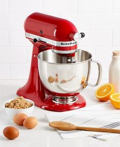 All Your Must-Have Kitchen Gear Is on Sale at Macy's Right Now — Food Network Small Kitchen Appliances, Kitchen Aid Mixer, Stand Mixer Reviews, Kitchenaid Artisan Stand Mixer, Wedding Gift Registry, Live Stream, Best Wedding Gifts, Autumn Home, Bedding Collections