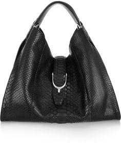 Gucci Stirrup Python Hobo Bag