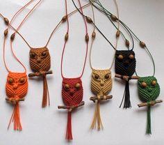 mini macrame owls.