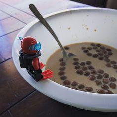 """""""Dive into breakfast"""" #lego #diver #minifigure"""