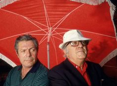 Marcello Mastroianni and Federico Fellini