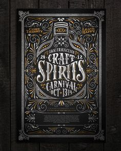 Craft Spirits Carnival by Joel Felix #typography #flourishes