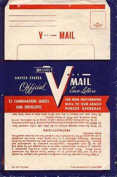 By 1944 V-mail was at it's peak use. Even though over a billion V-mails were sent, they were still outnumbered by real letters and postcards.  More on link.