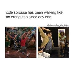 Bahhagahagah<<<he did say it was his hidden talent🤣<<<<<<I love Cole Sprouse🤣🤣🤣 Bughead Riverdale, Riverdale Funny, Riverdale Memes, Disney Channel, Sprouse Bros, Dylan Sprouse, Stranger Things, Cole Spouse, Cole Sprouse Funny