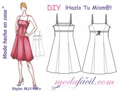ELEGANT PATTERNS DOWNLOAD COCKTAIL DRESS Available in 10 sizes to put individual lists drawn on the fabric and cut