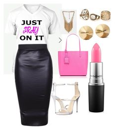 """Weekend Brunch"" by lusciouslysha on Polyvore featuring Eddie Borgo, Kate Spade, Giuseppe Zanotti and MAC Cosmetics"