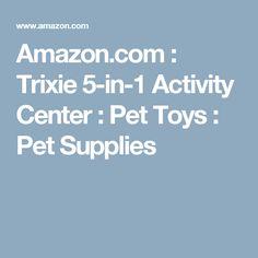 Amazon.com : Trixie 5-in-1 Activity Center : Pet Toys : Pet Supplies