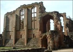Kenilworth Castle. Ruined castles are beautiful. Just walk through the open doorway, and wait for the fun to being!