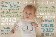 A way to document your baby month to month and keep tabs on milestones. I went to high school with her husband and her stuff is awesome! Super cute idea!