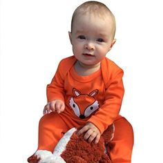 Leegor Baby Cute Casual Fox Printing Long Sleeve Cartoon Romper Jumpsuit Clothes 18M *** Read more  at the image link.Note:It is affiliate link to Amazon. #tflers