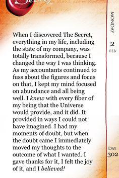 Feb 2, 2015 The Secret Daily