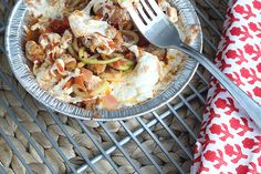 Farmer's market thursday: baked zucchini spaghetti. Veggie Recipes Healthy, Healthy Recipes On A Budget, Healthy Pizza, Vegan Breakfast Recipes, Healthy Eating, Veggetti Recipes, Spiralizer Recipes, Pasta Recipes, Bento