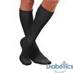BSN Jobst - 110852 - SensiFoot Crew Length Mild Compression Diabetic Sock Medium, Black