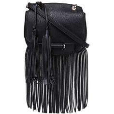 Tassel-detailed Multi-pockets Shoulder Bag (220 HRK) ❤ liked on Polyvore featuring bags, handbags, shoulder bags, blackfive, purses, bolsas, man bag, tassel handbag, man shoulder bag and multi pocket shoulder bag