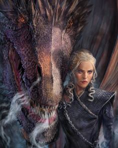 "Polubienia: 6,530, komentarze: 7 – Game of Thrones (@art.of.ice.and.fire) na Instagramie: ""Daenerys Targaryen ""Mother of Dragons"" - by @naomirobinsonart ° ° ° #daenerystargaryen #jonsnow…"""