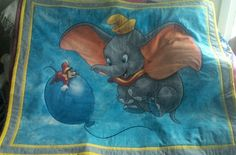 Toddlers Quilt, Dumbo the elephant, cotton, handmade. by TheQuiltedCheese on Etsy Dumbo The Elephant, Toddler Quilt, Kids Rugs, Quilts, Unique Jewelry, Handmade Gifts, Toddlers, Cotton, Painting