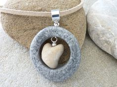 BEACH STONE NECKLACE by PARALIA on Etsy https://www.etsy.com/listing/248969551/beach-stone-necklace