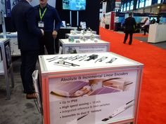 Lika's booth E-4354 at #IMTS in #Chicago. Linear #encoders. Photo from Day 1