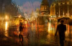 Artistic Cityscapes by Eduard Gordeev Based in St. Petersburg, Russia, talented photographer Eduard Gordeev takes impressive rainy cityscapes. His captures look as if they were acrylic pai...