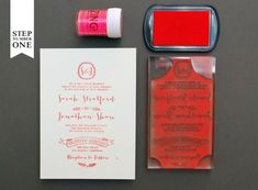 Oh So Beautiful Paper: DIY Tutorial: Neon + Kraft Paper Wedding Invitations